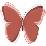 Jeweled Burgundy Butterfly