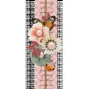 Floral Border with ladybug