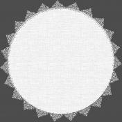 White Lace Linen Mat