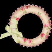 Circle Frame with Ribbon
