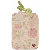 Floral Tag with Bow