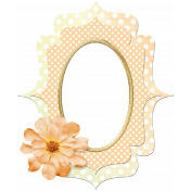 Dotted Peach Frame