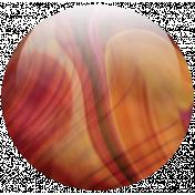 Topaz Swirl Glass Pebble