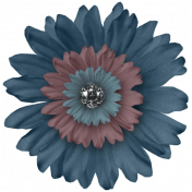 Sapphire Layered Fabric Flower