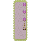 Amethyst Scalloped Tag