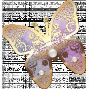 Amethyst Gold Butterfly
