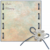 Opal Stitched Journal Card