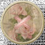 Rebel Rose Floral Button