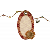 Beaded Oval Tag
