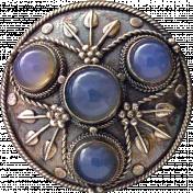 Blue Moonstone Kilt Pin
