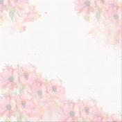 Pink Cosmos Watercolor Paper