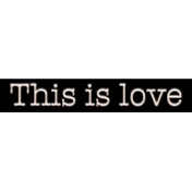 Mix and Match- This Is Love