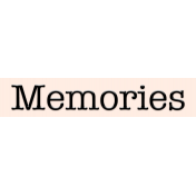 Mix and Match- Memories Label
