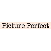 Mix and Match- Picture Perfect Label