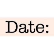 Mix and Match- Date Label