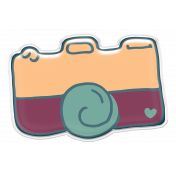 Bohemian Breeze- Camera Sticker