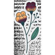 Bohemian Breeze- Flower Sticker 01