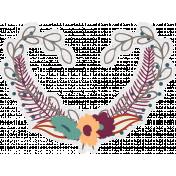 Bohemian Breeze- Wreath Sticker