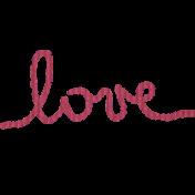 Art Of Everyday- Love Word Art