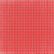 Our House Nov2014 Blog Train- Red Wavy Pattern Paper
