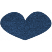 Our House Collab Word Art- Tiny Heart Sticker- Blue