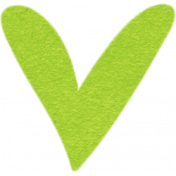 Our House Collab Word Art- Tiny Heart Sticker- Green