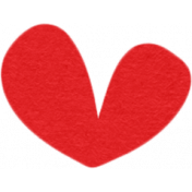 Our House Collab Word Art- Tiny Heart Sticker- Red