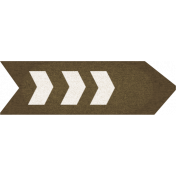 Our House Collab Word Art- Chevron Arrow Sticker- Brown