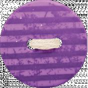 Spookalicious - Purple Striped Button