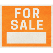 Our House Collab- Word Art- For Sale Sign