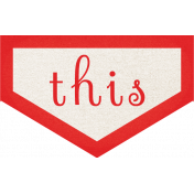 Our House Collab- Word Art- Red Pointer Sticker- THIS