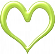 Our House- Green Heart Outline