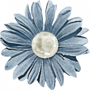 Our House- Light Blue Flower
