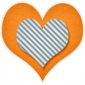 Our House- Orange & Blue Heart