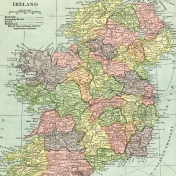 Vintage Maps Kit- Ireland Map