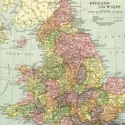 Vintage Maps Kit- Map 03 (England, Wales)