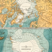 Vintage Maps Kit- Map 04- Arctic
