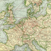 Vintage Maps Kit- Map 05- Europe
