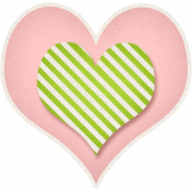 Our House- Pink & Green Heart