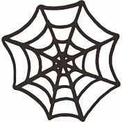 Spookalicious- Black Spiderweb Sticker