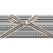 Spookalicious- Black/White Striped Bow