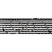 Spookalicious- Black/White Striped String