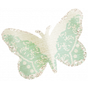 Dream Big Collab- Butterfly- Green and White