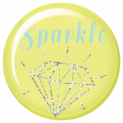Dream Big Collab- Sparkle Flair- Yellow