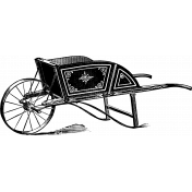 Its Vintage Brush Set 01- Wheelbarrow