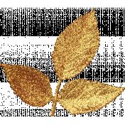Spookalicious- Gold Glitter Leafy Branch