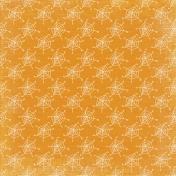 No Tricks, Just Treats Add-On- Orange Spider Web Paper