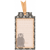 No Tricks, Just Treats Add-On- Damask Tag With Ribbon