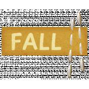 Autumn Art October Mini Kit- Orange Stitched Tag- Fall