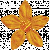 Spookalicious- Little Orange Flower